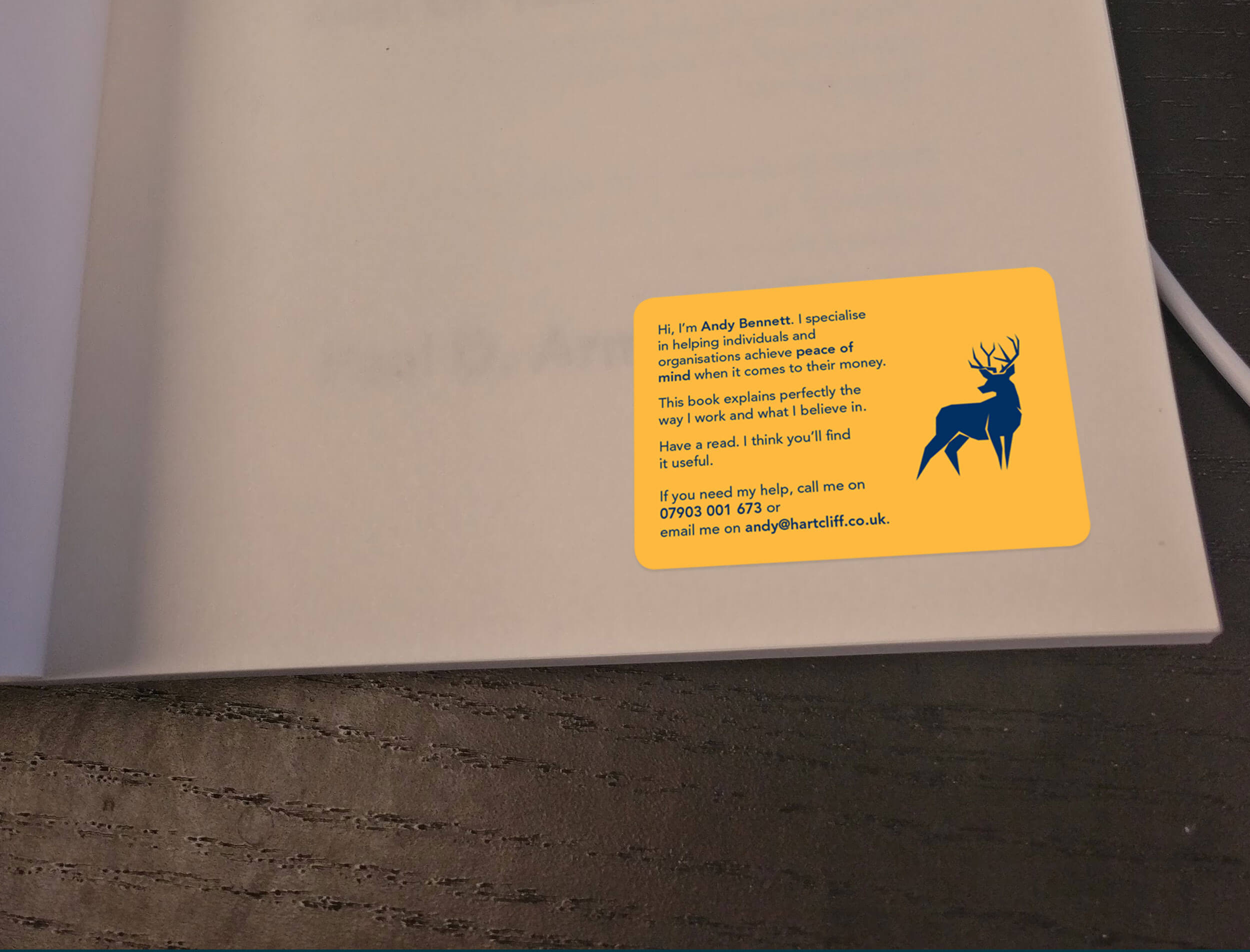Hartcliff book sticker