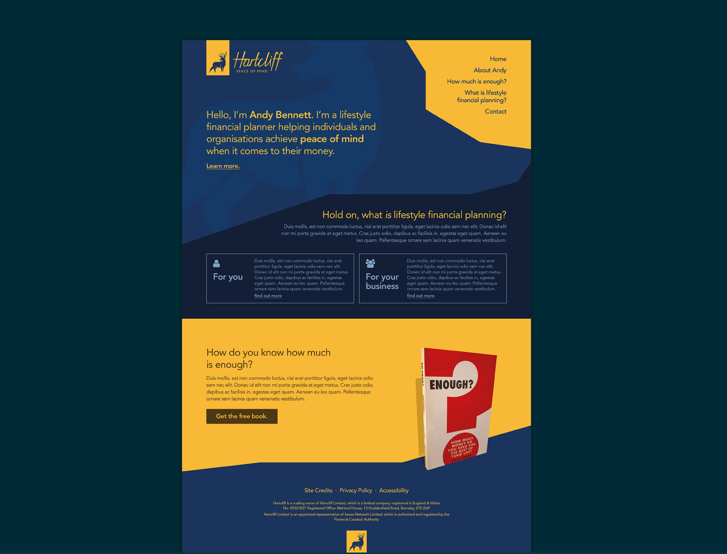 Hartcliff website design